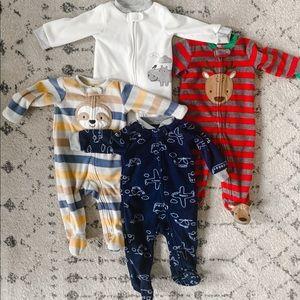 Bundle of fleece pajamas